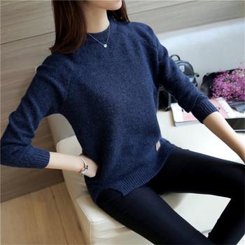 Дамска блуза с О-образно деколте в няколко цвята