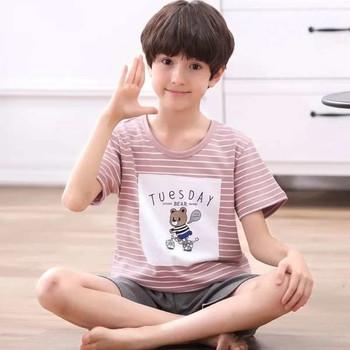 Детска пижама за момчета в различни модели - тениска с щампа и къси панталони