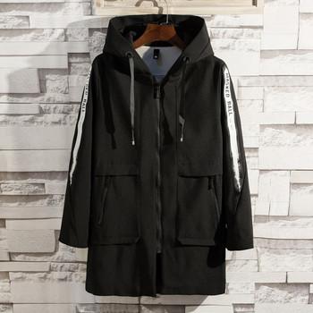 Μακρύ ανδρικό παλτό με κουκούλα 6c686c55b88