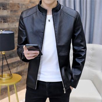 Мъжко стилно яке в няколко цвята от еко кожа