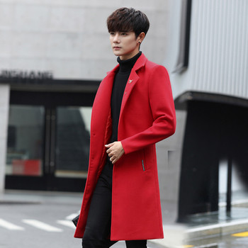 Κομψό μακρύ ανδρικό παλτό σε διάφορα χρώματα - δύο μοντέλα - Badu.gr ... 1b96588dede