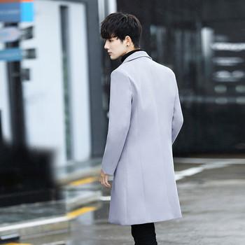 Мъжко стилно дълго палто в няколко цвята - два модела