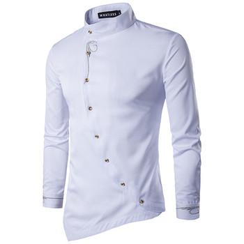 Спортно-елегантна мъжка риза със странични копчета в няколко цвята