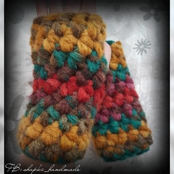 Дамски плетени ръкавици без пръсти