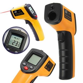 Безконтактен LCD инфрачервен лазерен термометър за измерване на температурата