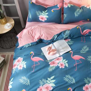 Памучно спално бельо от четири части - различни десени