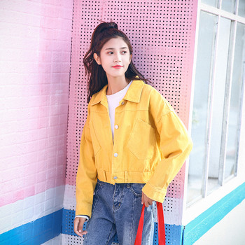 Μοντέρνο γυναικείο μπουφάν με τσέπες σε τρία χρώματα