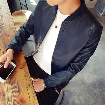 Мъжко стилно яке от еко кожа в няколко цвята подходящо за ежедневието