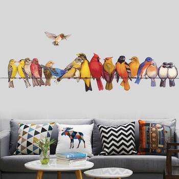Цветен стенен стикер - Птици
