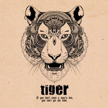 Стена декорация - Индийски тигър