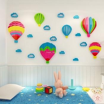 3D цветни стикери подходящи за детска стая