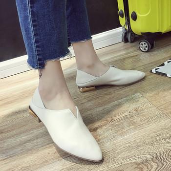 Ежедневни дамски обувки в три цвята - заострен модел