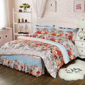 Спално бельо от четири части с флорален десен
