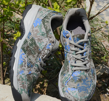 Цветни туристически обувки с мрежа