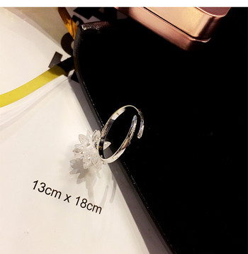 Нежен дамски пръстен с 3D декорация