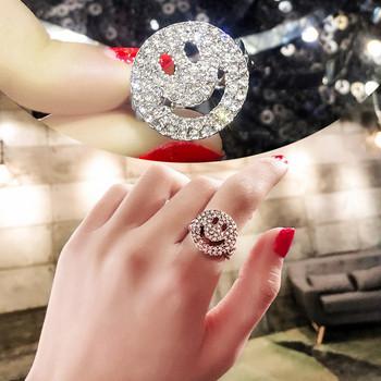 Дамски пръстен с декоративни камъни в златист и сребрист цвят