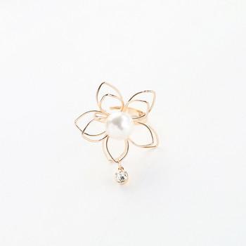 Дамски пръстен във формата на цвете с висулка