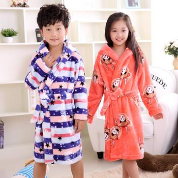Детски мек халат за момичета и момчета