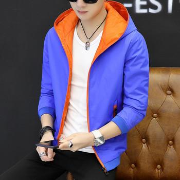 Мъжко ежедневно яке с качулка в няколко цвята