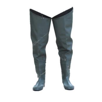 Мъжки гумени  ботуши модел - над  коляното водоустойчиви подходящи за риболов