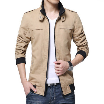 Мъжко палто с подплата в няколко цвята
