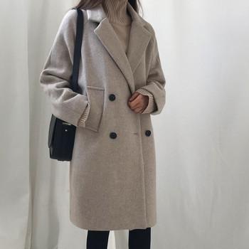 Κομψό γυναικείο παλτό με μαύρο και γκρι χρώμα - Badu.gr Ο κόσμος στα ... 4deb8b346a9