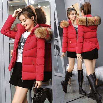 Γυναικείο χειμωνιάτικο μπουφάν με οικολογική γούνα, κουκούλα και κορδέλα - 5 μοντέλα