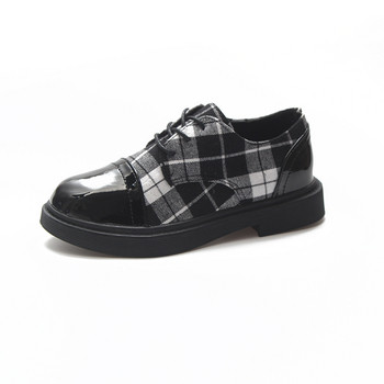 Карирани дамски обувки в два цвята