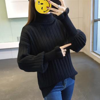 7a89026801b badu.gr - Κομψό γυναικείο πουλόβερ με ψηλό γιακά