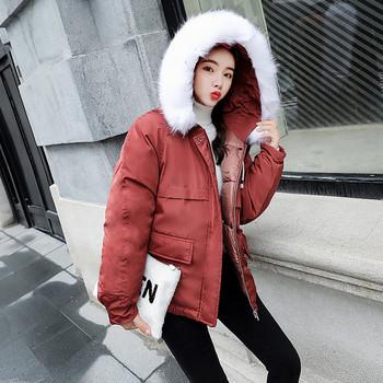 Γυναικείο μπουφάν με γούνα σε τέσσερα χρώματα
