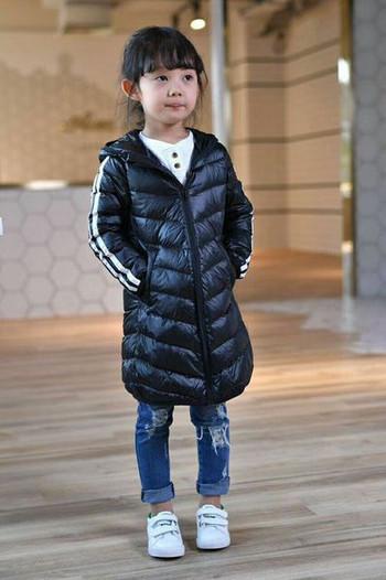 Χειμερινό παιδικό μπουφάν με κουκούλα κατάλληλο για κορίτσια και αγόρια σε τρία  χρώματα c611d67bf85
