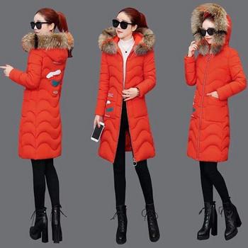Дълго дамско яке с цип в три цвята