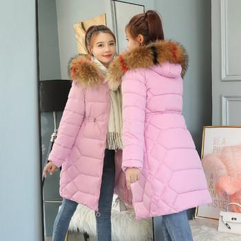 Дълго дамско яке за зимата в пет цвята