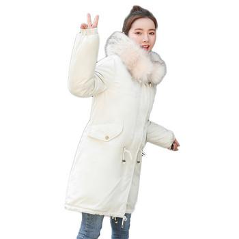Γυναικείο  μακρύ χειμωνιάτικο μπουφάν σε τρία χρώματα