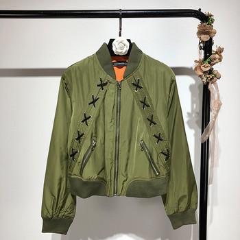 ΝΕΟ μοντέρνο μ γυναικείο μπουφάν με μπλε, πράσινο και μαύρο χρώμα