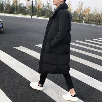 Дълго мъжко яке в черен цвят - два модела