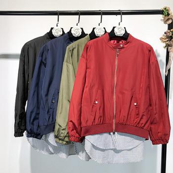 Μοντέρνο γυναικείο μπουφάν για το φθινόπωρο σε τέσσερα χρώματα