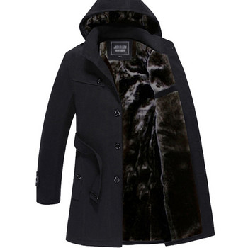 Спортно-елегантно мъжко палто с качулка в няколко цвята