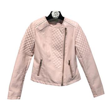Стилно дамско яке от еко кожа в няколко цвята