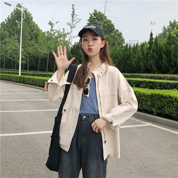 Есенно дамско яке в два цвята