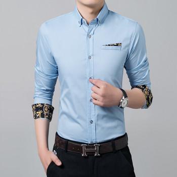 Μοντέρνο ανδρικό πουκάμισο με διακοσμητική μπροστινή τσέπη - Badu.gr ... ac813ccf5b2