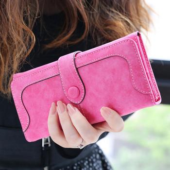 Καθημερινό γυναικείο πορτοφόλη σε  ροζ χρώμα