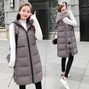 dd9000fae705 Μοντέρνο μακρύ γυναικείο μπουφάν με κουκούλα σε διάφορα χρώματα ...