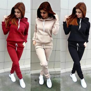 Спортен дамски екип в няколко цвята от две части