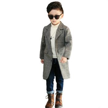 93d9c3c6033 Παιδικό παλτό για αγόρια σε γκρι χρώμα - Badu.gr Ο κόσμος στα χέρια σου