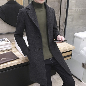 Стилно мъжко палто с копчета в няколко цвята