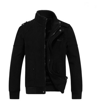 Мъжко яке в сив и черен цвят с мека подплата