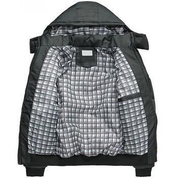 Черно мъжко яке с качулка подходящо за ежедневието