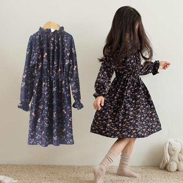 b50687a8d17 Есенна детска рокля с дълъг ръкав и флорални мотиви - Badu.bg - Светът в ръцете  ти