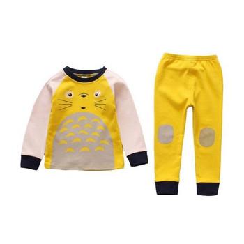 Детска пижама за момчета в два цвята - жълт и син